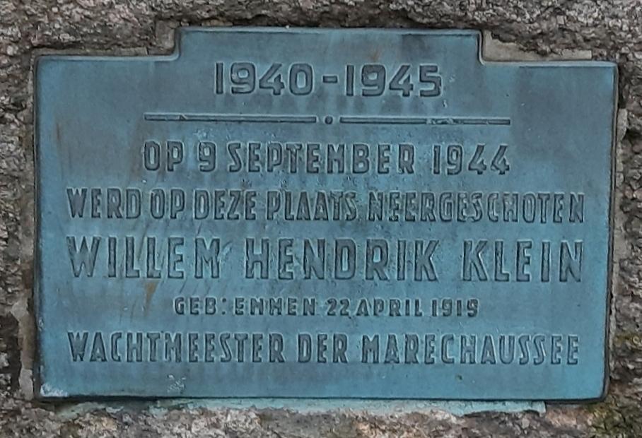 Plaquette Hendrik Klein