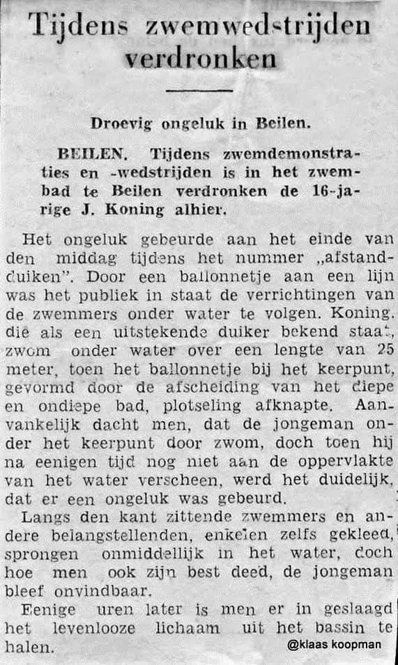 Jan Koning verdronken